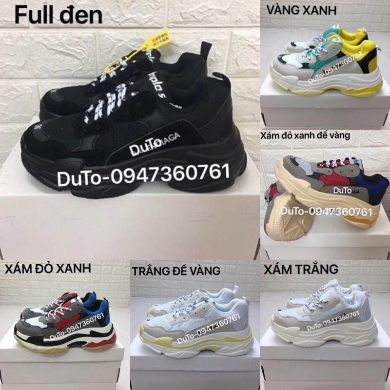 [SALE SỐC-SẴN HÀNG] Giày triple S trắng xám size 36->44 NAM NỮ