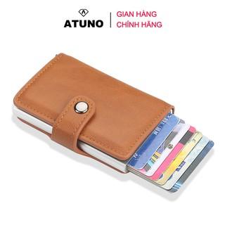 Ví mini cầm tay, đựng thẻ ATM, giấy tờ tùy thân ATUNO AT01 nhiều ngăn, phong cách unisex