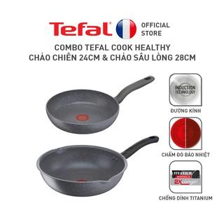 Bộ nồi chảo Tefal Cook Healthy 2pcs (Chảo 24 Chảo xào 28) thumbnail
