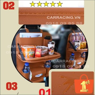 Túi để đồ treo sau ghế ô tô CARRACING bằng Da PU cao cấp - Túi đựng đồ sau ghế xe hơi - Nội thất phụ kiện đồ chơi thumbnail