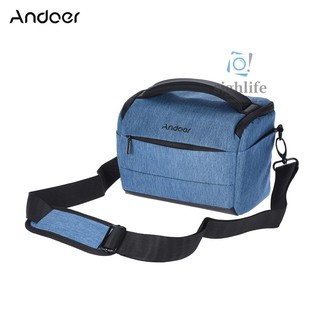 [silf]Andoer Cuboid-shaped DSLR Camera Shoulder Bag Portable Fashion Polyester Camera Case for 1 Camera 2 Lenses and Small Accessories for