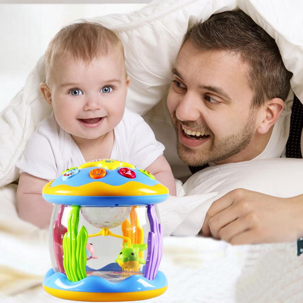 Children Music Toys Dream Ocean Paradise Rotating Light Drums Babies Kids Educational