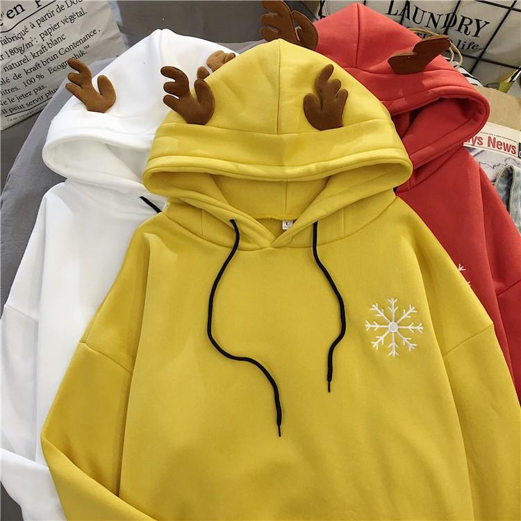 [HÀNG ORDER] Áo hoodie mũ gạc nai