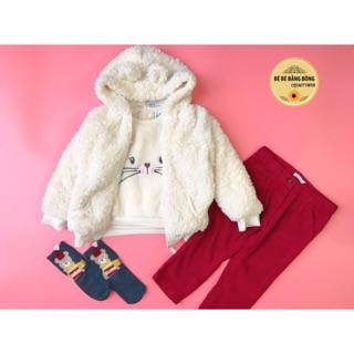 Áo khoác lông gấu bé trai / bé gái