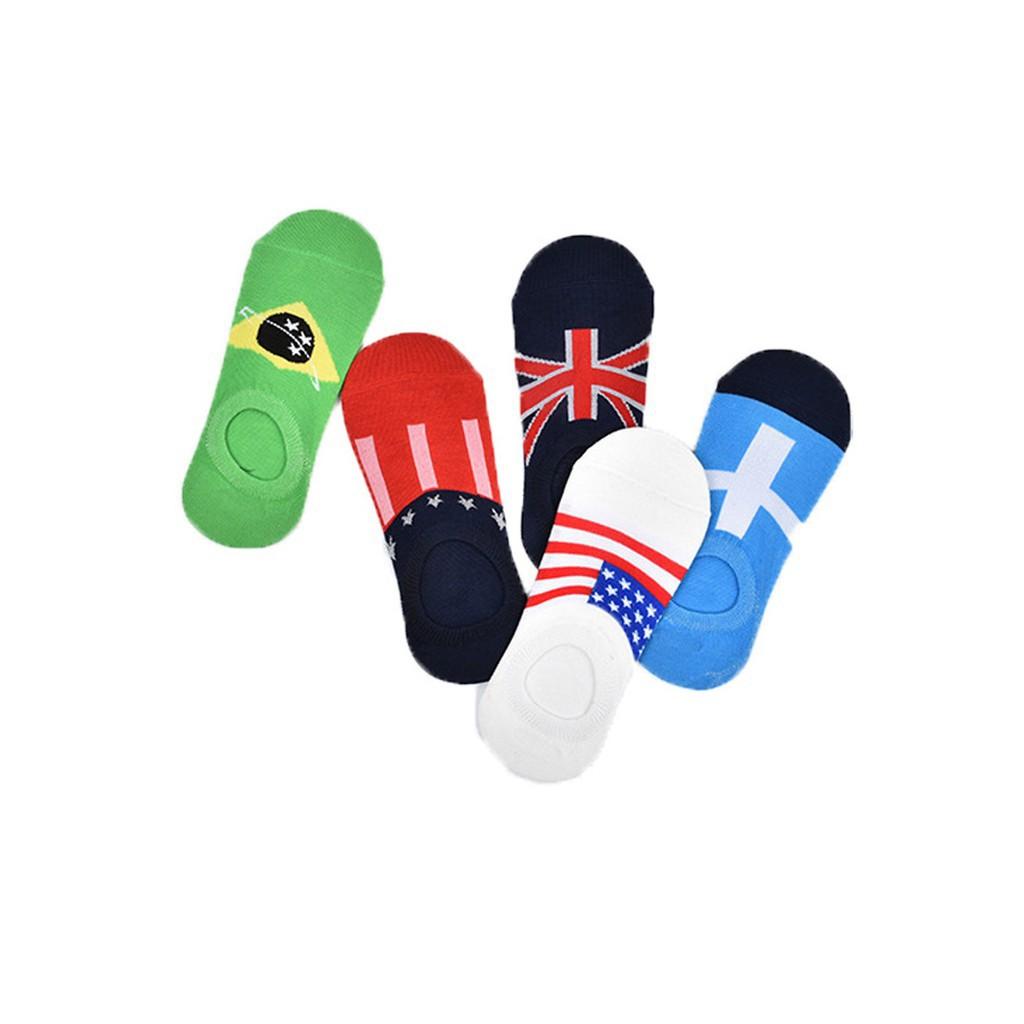 Combo 5 đôi tất nam in hình cờ 2019