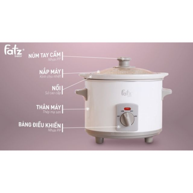 Nồi nấu chậm 1,5 lít Fatz Baby - Slow 1 - FB9015MH