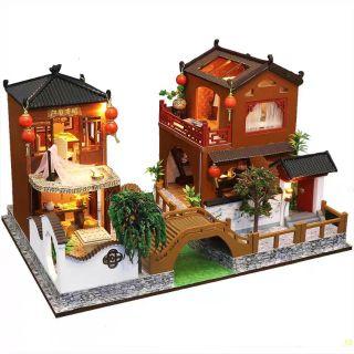 Kèm Mica – Mô hình nhà gỗ búp bê Dollhouse DIY – L902 Poems and Dream