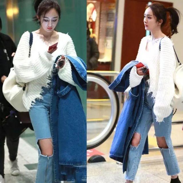 Set áo len quần Jeans của Dương Mịch