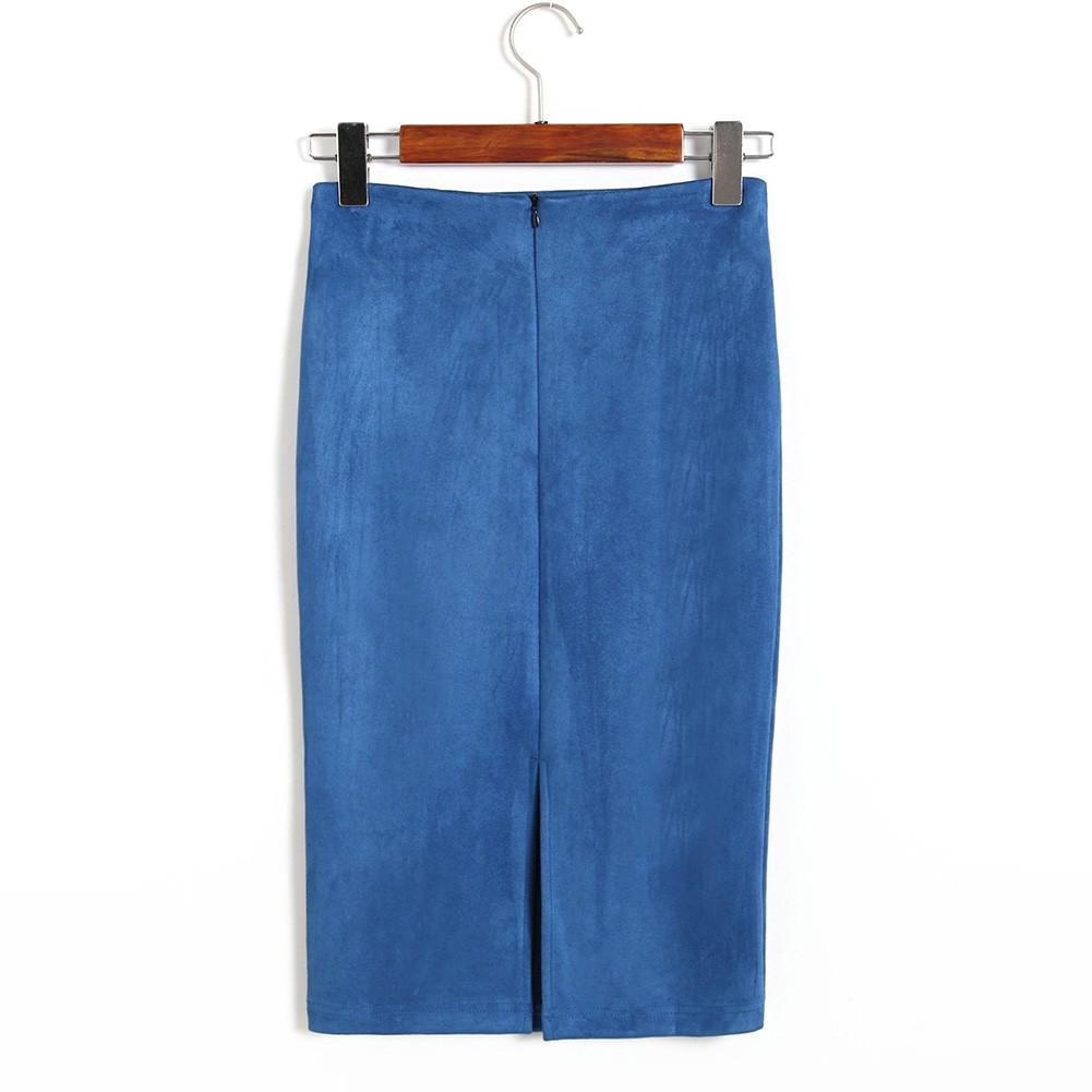 Đầm bút chì dáng dài màu trơn thiết kế đơn giản hợp thời trang