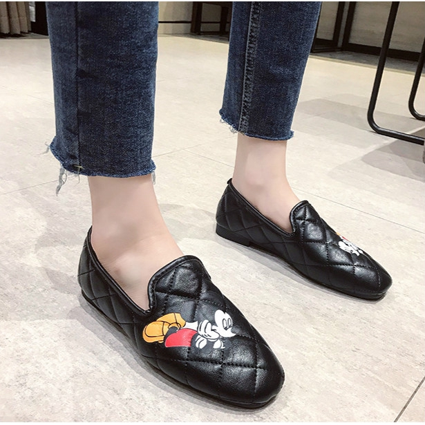 Giày Nữ Hình Chuột Mickey 3d