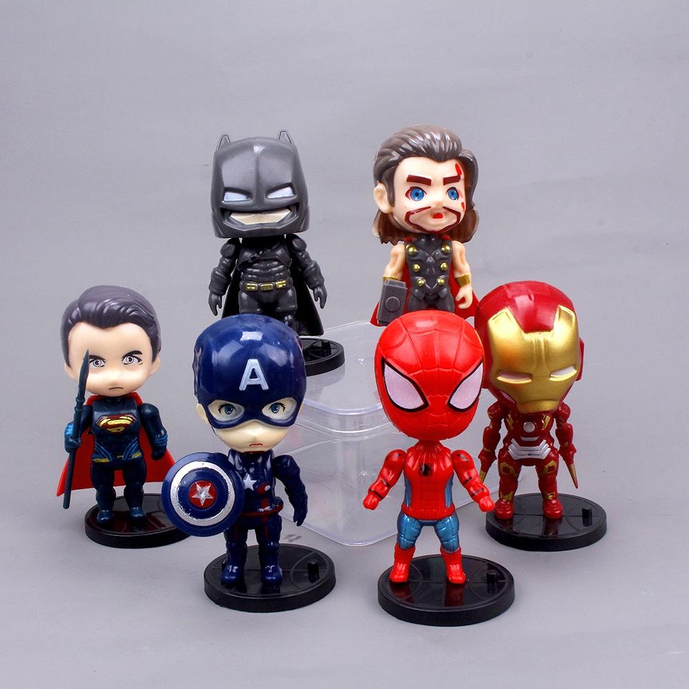 Mô Hình Nhân Vật Avenger , DC Siêu Anh Hùng Chibi( Người nhện, Iron man, Batman, …… )