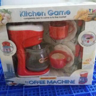 Hộp đồ chơi pin dụng cụ và máy pha cà phê cho các bé từ 3 tuổi