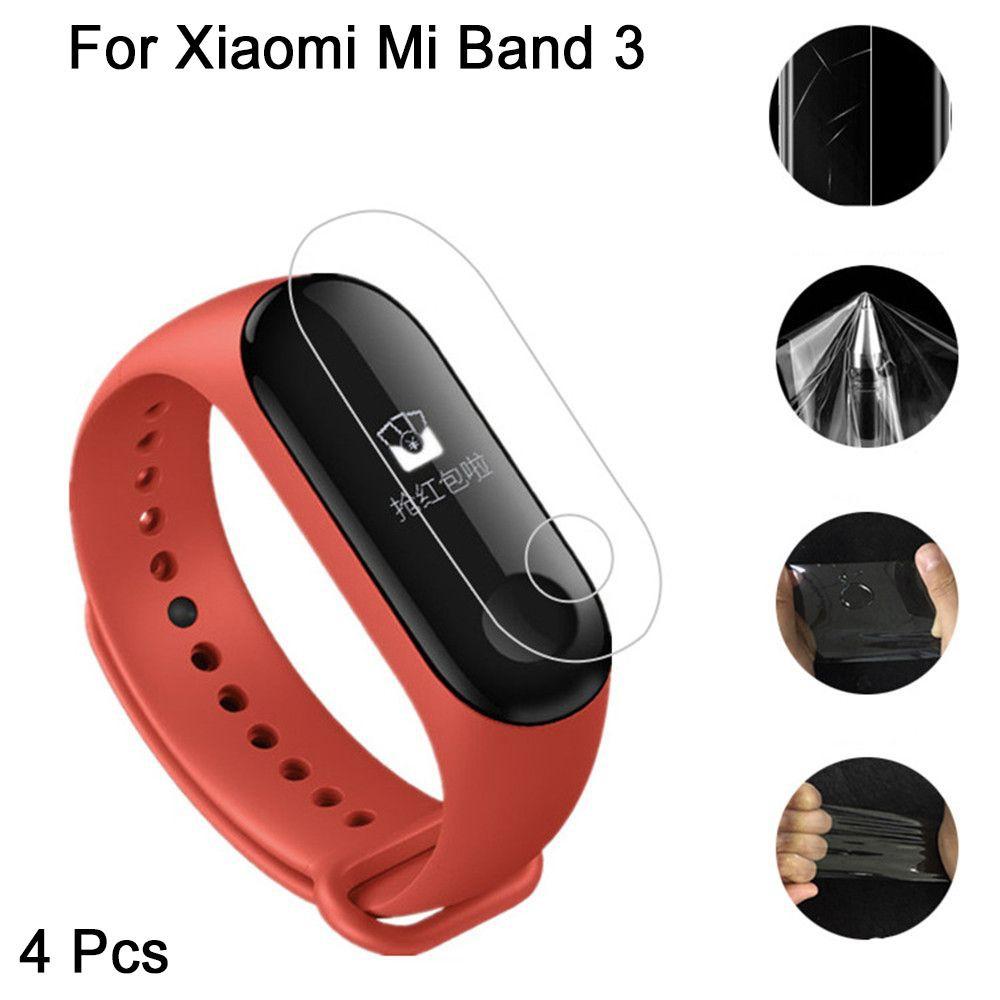 4 Miếng Dán Bảo Vệ Màn Hình Cho Xiaomi Miband 3