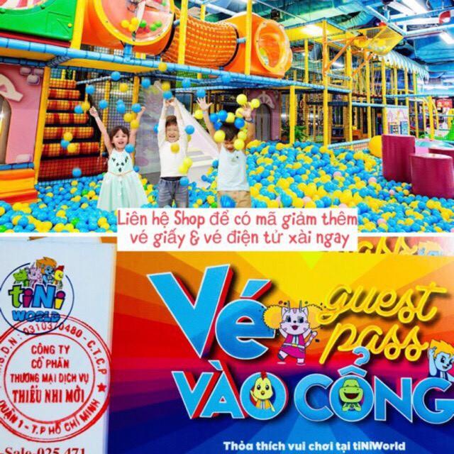 Toàn Quốc [Voucher] 02 vé vào cổng và vui chơi tại tiNiWorld toàn hệ thống ko bù tiền
