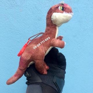 Thú bông móc khoá nhựa khủng long 18cm ko tính đuôi