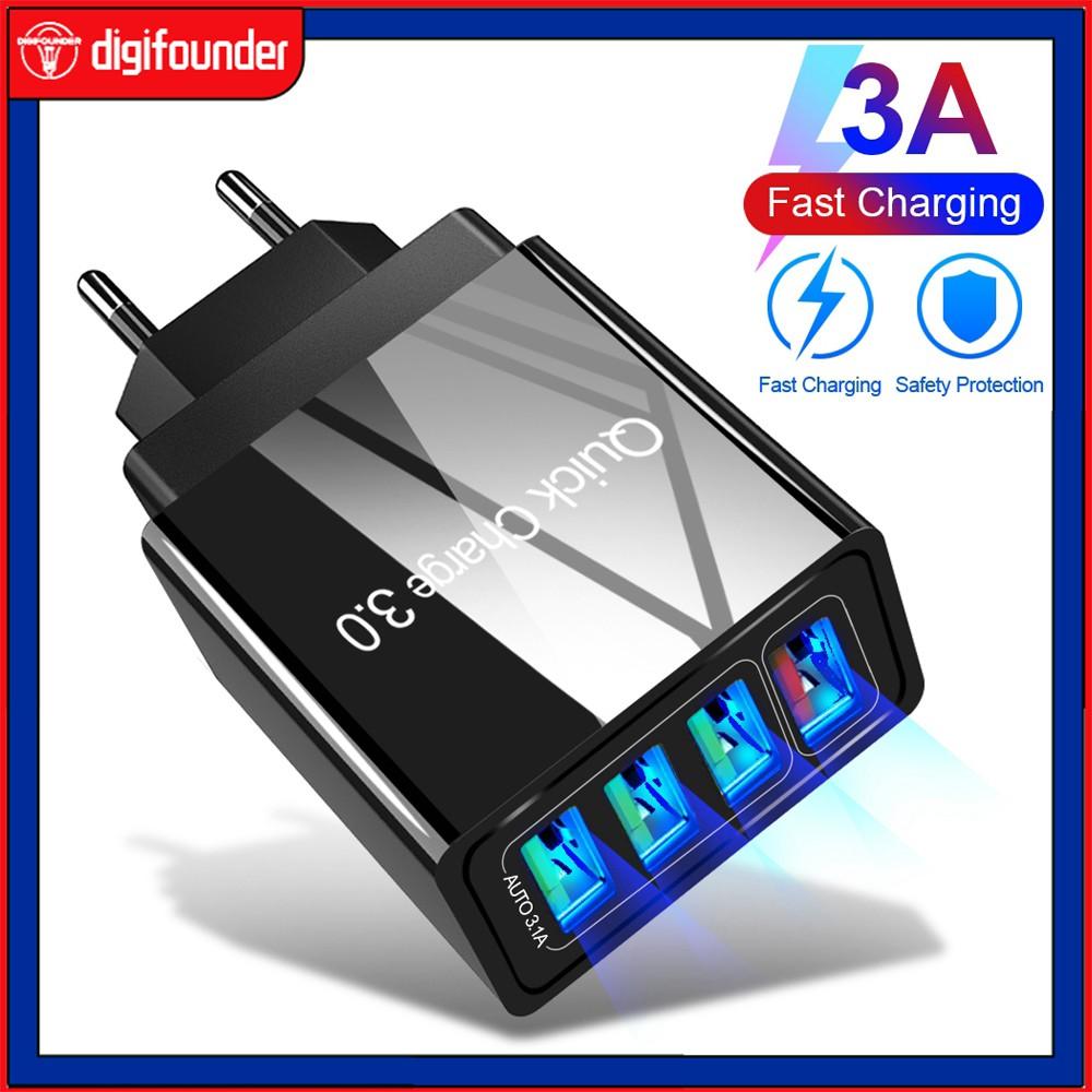 Cốc sạc nhanh QC3.0 4 cổng USB 3.0 5V tiện dụng