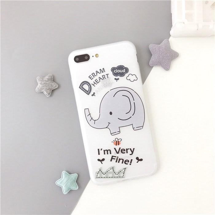 Ốp lưng iPhone hình chú voi 🐘dễ thương chất liệu dẻo mịn chống bẩn tốt, đủ mã từ iphone 6 6s 7 8 plus x xs xr xs max