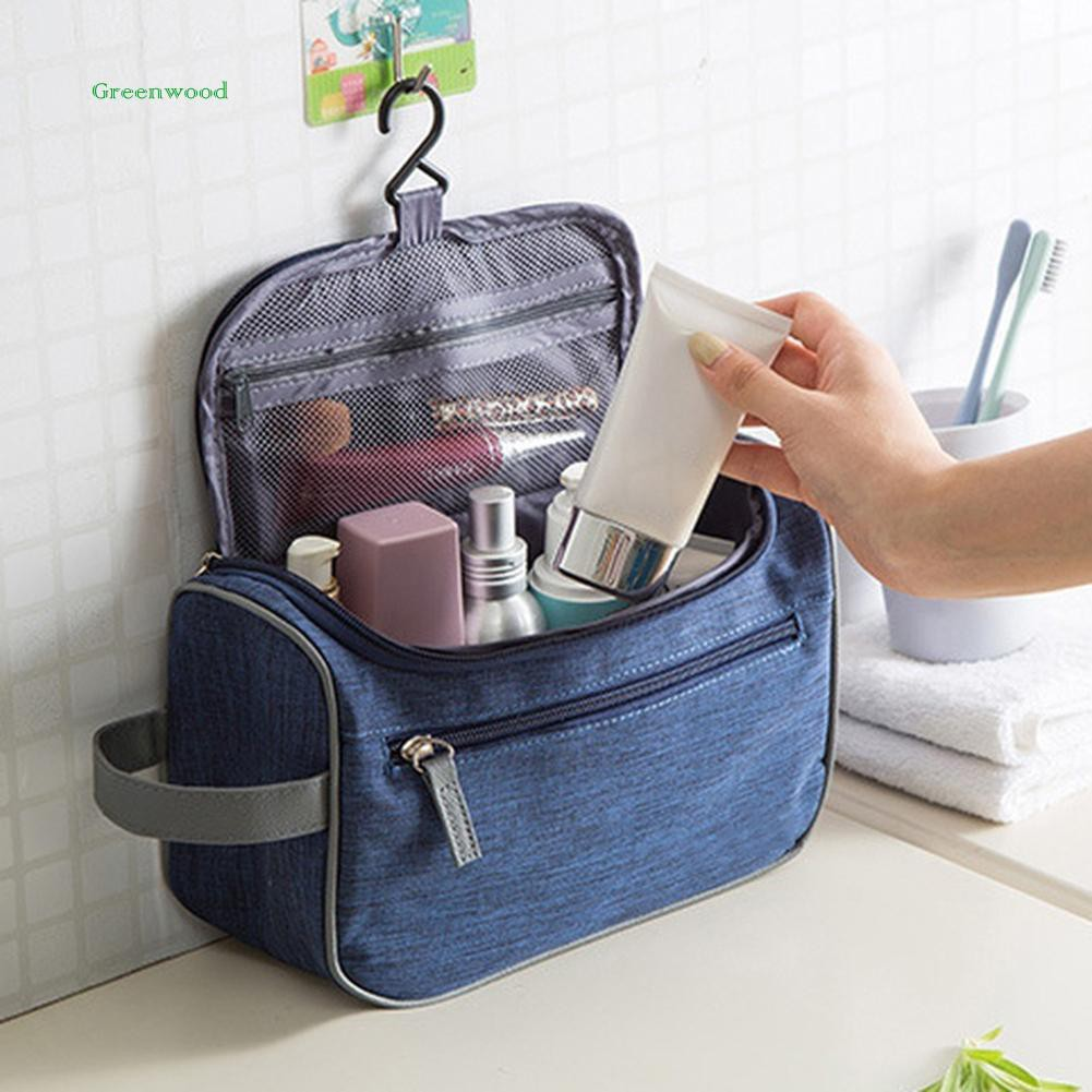 Green❤ Unisex Durable Travel Toiletry Cosmetic Makeup Tools Packing Storage Bag Case