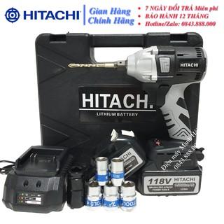 Siết bu lông hitachi 118V – Động cơ không chổi than – ruột đồng 100% – tặng kèm 6 đầu khẩu