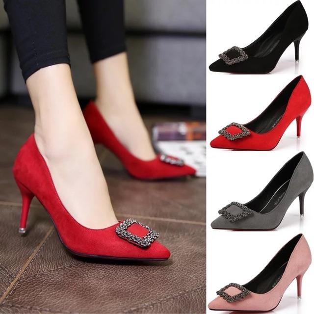 Giày cao gót đế cao 6.5cm và 7.8cm da lộn hàng quảng châu - 3194525 , 561496264 , 322_561496264 , 249000 , Giay-cao-got-de-cao-6.5cm-va-7.8cm-da-lon-hang-quang-chau-322_561496264 , shopee.vn , Giày cao gót đế cao 6.5cm và 7.8cm da lộn hàng quảng châu
