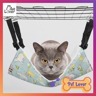 [FREESHIP] Võng cho mèo, võng nằm cho mèo hình vuông, võng treo chuồng họa tiết dễ thương, quai treo chắc chắn, võng êm thumbnail