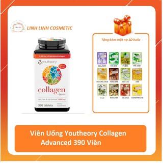 (tặng kèm mặt nạ 3D) date 6 2023 - Viên Uống Youtheory Collagen Advanced 390 Viên collagen Type thumbnail