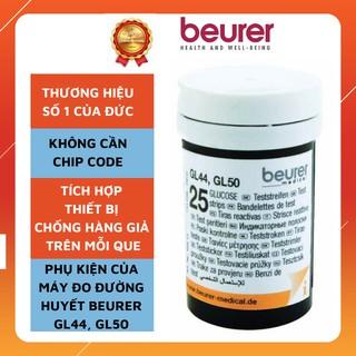 Que thử đường huyết Beurer GL50, 25 que hộp, không cần chip code, tích hợp chống hàng giả trong mỗi que thumbnail