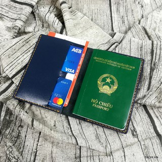 Passport cover, Ví đựng passport da bò, bao da đựng hộ chiếu da thật 100% handmade thumbnail