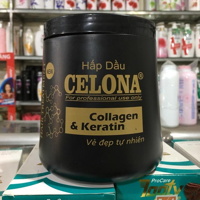 Hấp dầu Celona Collagen & Keratin vẻ đẹp tự nhiên 1000ml