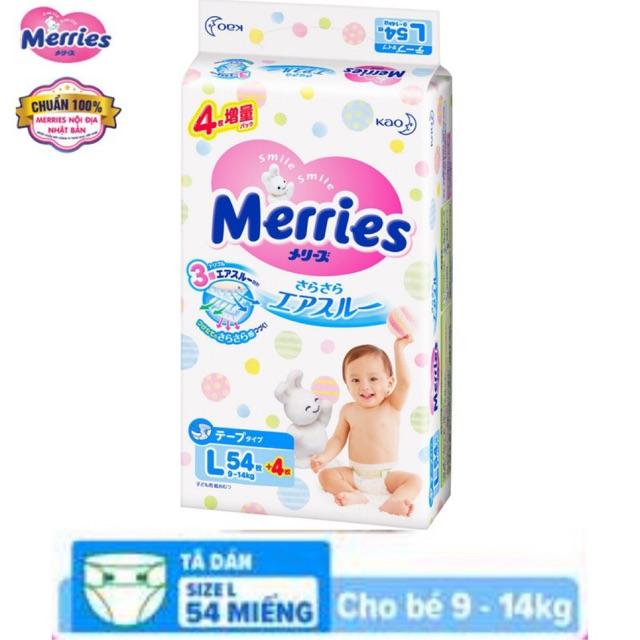 (Cộng miếng) Tã dán Merries