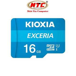 [Mã ELFLASH5 giảm 20K đơn 50K] Thẻ nhớ MicroSDHC Kioxia Exceria 16GB UHS-I U1 100MB/s (Xanh) - Formerly Toshiba Memory