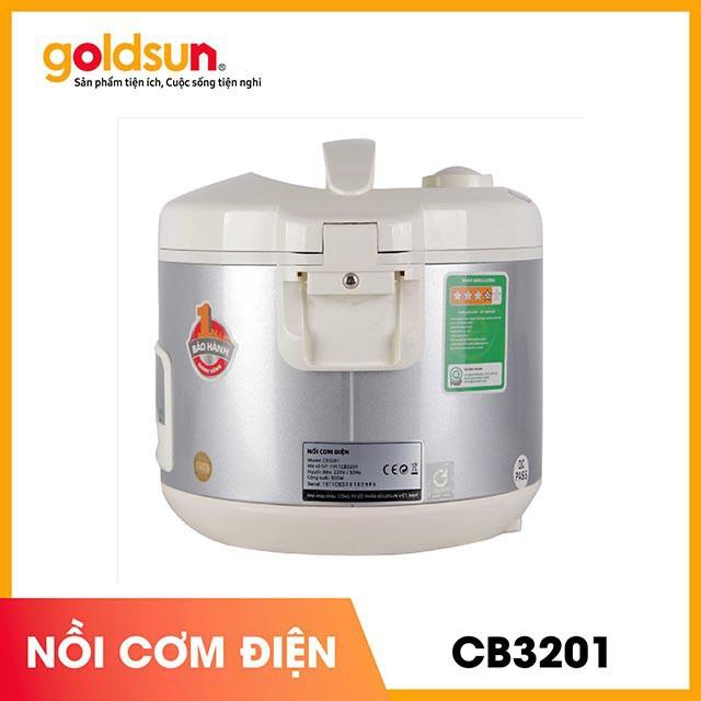 Nồi Cơm Điện Goldsun CB3201 Truyền Nhiệt Nhanh, Chống Cháy Khét