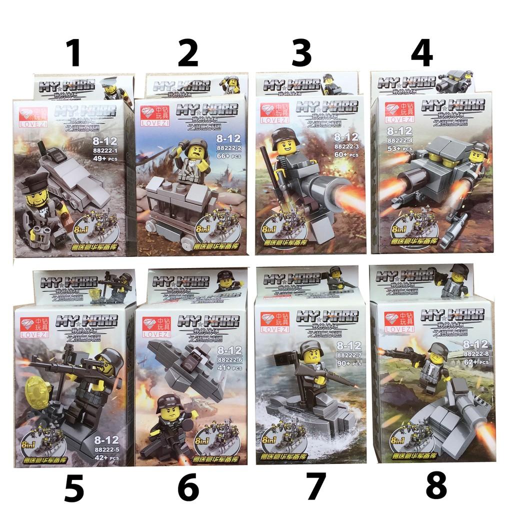 Lego xếp hình My War (có 8 mẫu )
