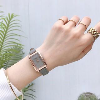 [Mã FASHIONRNK giảm 10K đơn 50K] Đồng hồ nữ Jigin hàng chính hãng mặt chữ nhật dây da mềm mỏng ôm tay thumbnail