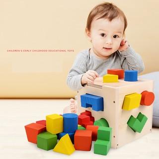 Đồ Chơi Gỗ – Hộp thả hình khối gỗ Bộ giáo cụ Montessori