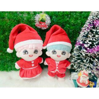 Những set outfit giáng sinh đáng yêu cho doll 15-20cm