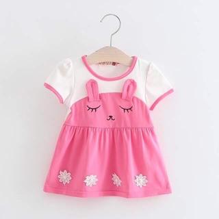 Váy cotton mèo bé gái