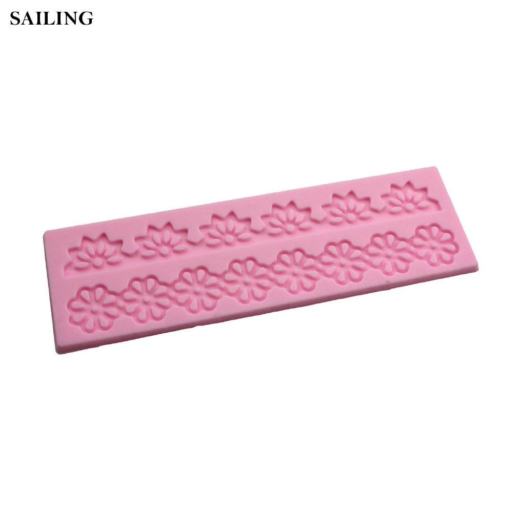 Pink Silicone Snow Flower Mould Cake Fondant Baking DIY Decorating Great