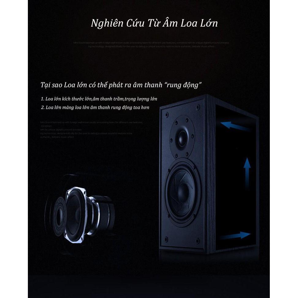 Loa bluetooth bọc thép  FREE SHIP  Loa blutooth mini chính hãng BS01 vỏ kim loại, nghe nhạc không dây với âm bass trầm
