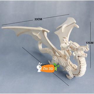 Mô hình lắp ráp gỗ 3D Kỵ Sỹ Rồng