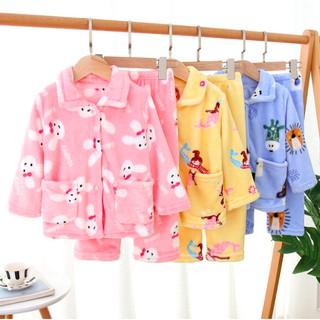 {ẢNH THẬT} Pijama cho bé - Pijama nhung cho bé - bộ đồ ngủ nhung lông bé trai & bé gái