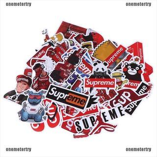 【metertry】50x Supreme PVC stickers graffiti car laptop skateboard gu