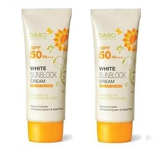[ HÀNG CHÍNH HÃNG] Bộ 2 Tuýp Kem Chống Nắng Dabo Whitening Sunblock Cream Cho Da Mặt Và Toàn Thân Hàn Quốc 70ml x2 thumbnail