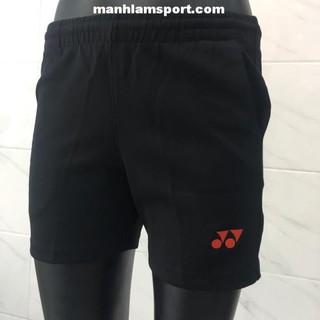 [Ưu đãi] Quần thể thao nữ Yonex đen đỏ chất vải mát, co dãn tốt, thấm mồ hôi bán chạy . [ ĐẶT NHANH ]