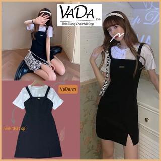Set đồ bộ áo thun + Đầm boddy 2 dây tag khách tách ra mix rất xinh dễ thương - Thời trang VADA -S500 thumbnail