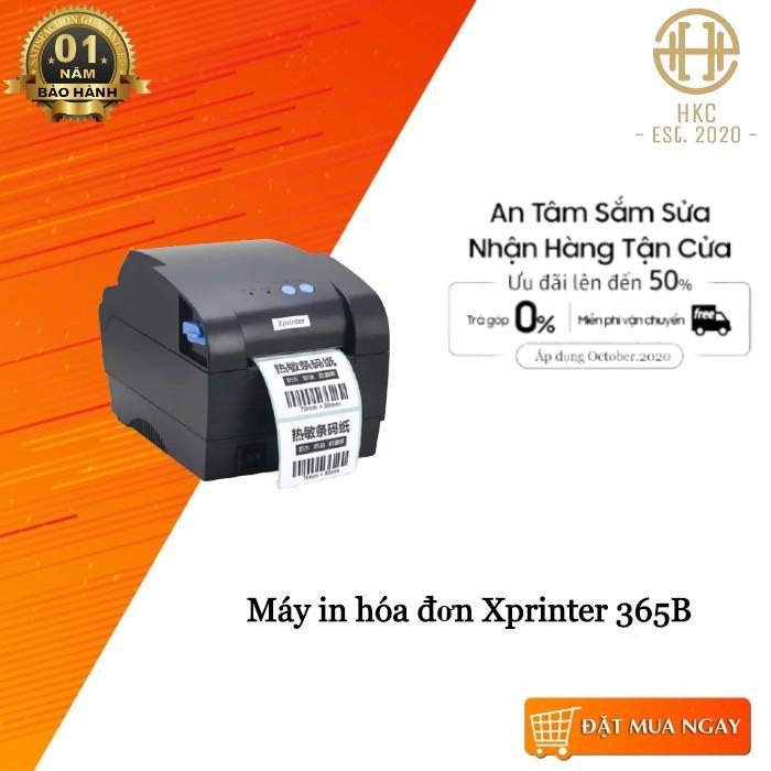 Máy in tem nhãn, in mã vạch + in hoá đơn K80 Xprinter 365B