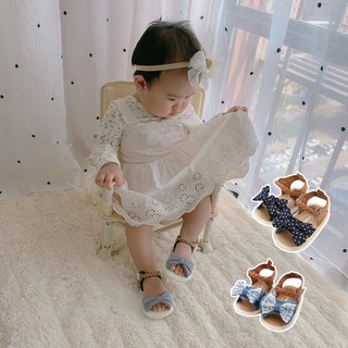 DOUMA Bow-knot Sandals Kids Beach Shoes Baby Walking Shoes First Walkers