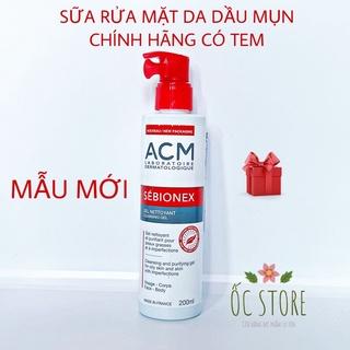 Sữa rửa mặt ACM Sebionex 🌸Chính Hãng🌸 Cho Da Dầu Mụn 200ml
