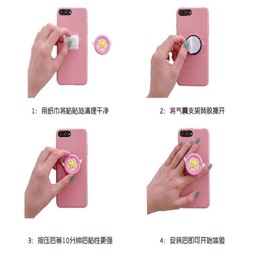 Đế đỡ điện thoại dạng tròn họa tiết hoạt hình xinh xắn