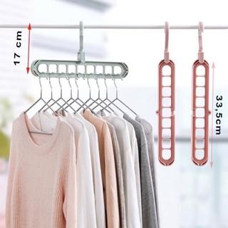 Móc treo quần áo 9 lỗ tiết kiệm diện tích thumbnail